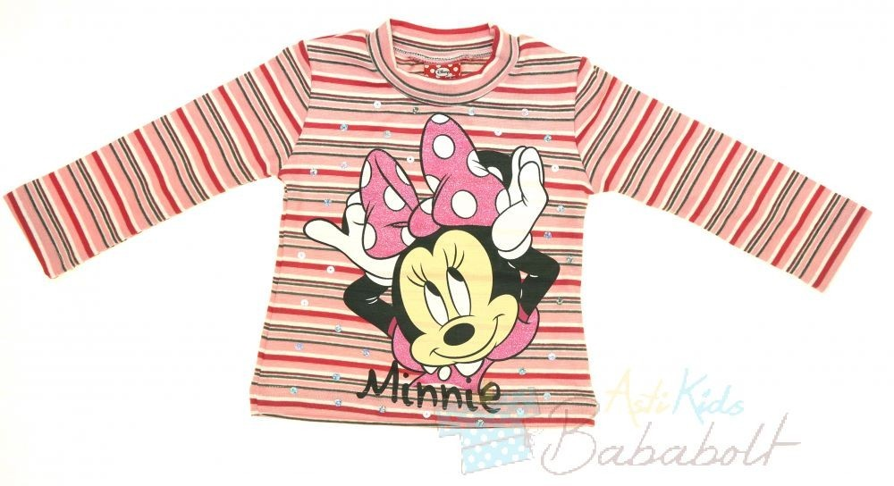 Disney Minnie csíkos hosszú ujjú póló (méret 86-128) - Babaruha ... 82964cbd0e