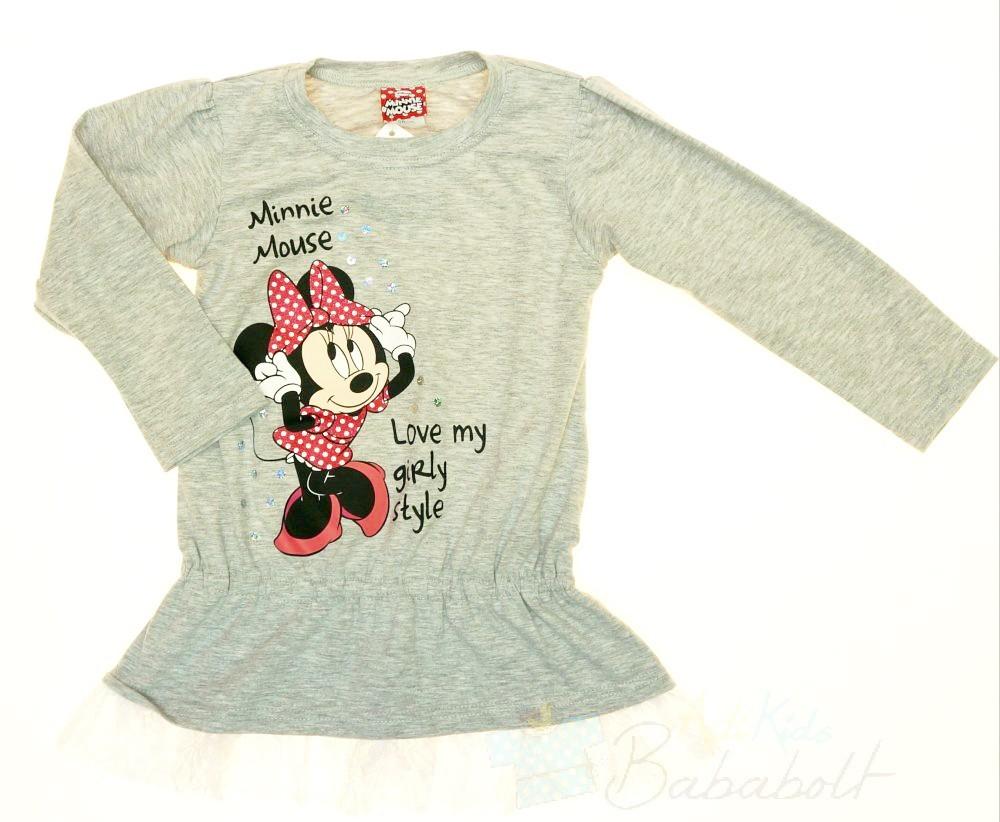 Disney Minnie lányka csipkés aljú tunika (méret 92-128) - Babaruha ... 3b7d26dedd