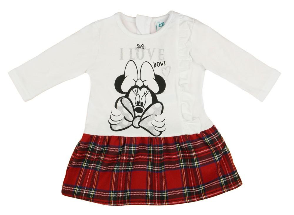 Disney Minnie hosszú ujjú lányka ruha (méret  68-116) - Babaruha ... 9183545cb1