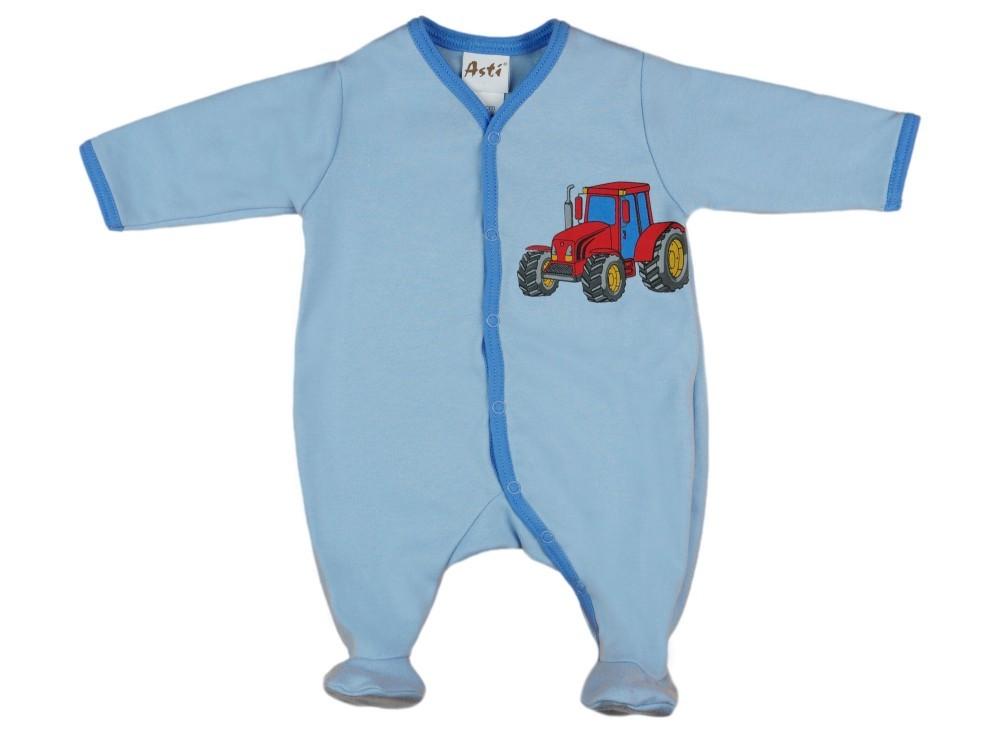 Fiú hosszú ujjú elöl patentos bébi rugdalózó traktor mintás ... 3af44de8ad