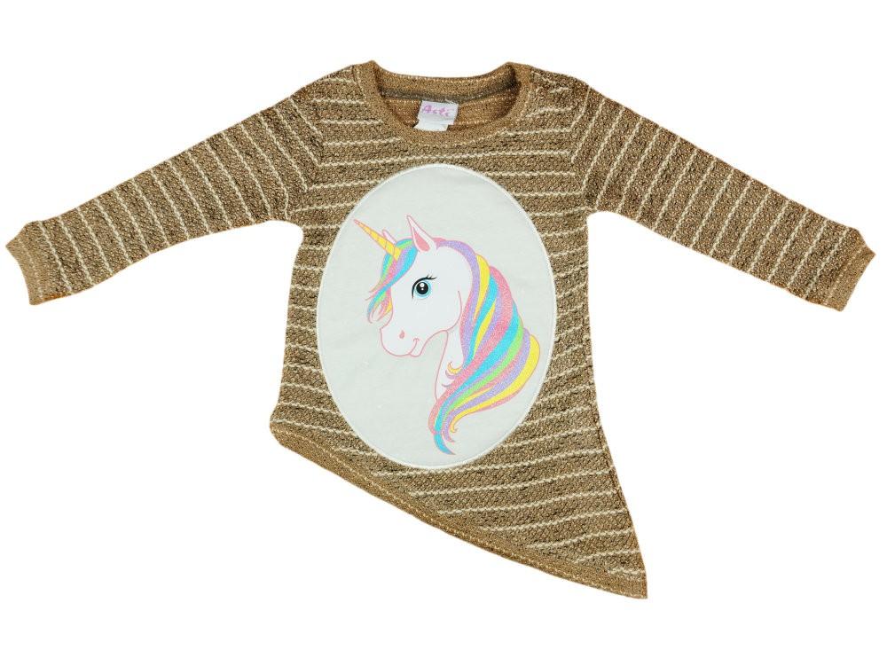 Unikornis lányka kötött pulóver - Babaruha  928f18a42c