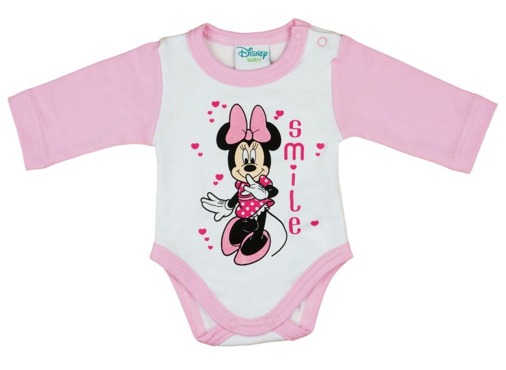 Disney Minnie lányka hosszú ujjú kombidressz Smile - Babaruha ... a2bbfc5652