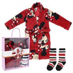 Disney Minnie dobozos wellsoft köntös+zokni szett b78bfc244b