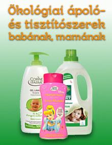 Ökológiai ápoló- és tisztítószeret babáknak, mamáknak