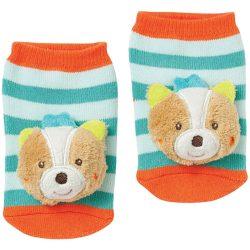 babyFEHN csörgő zokni - Róka