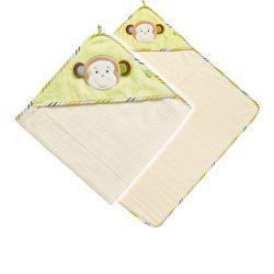Baby Fehn majmos kapucnis törölköző