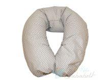 Bubaba szoptatós párna - Szürke-fehér cikk-cakk