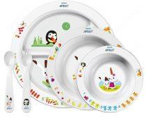 Philips Avent tányér és evőeszköz szett