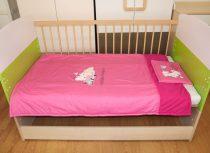 Hello Kitty 2 részes ágynemű (méret: 90x135/30x40)