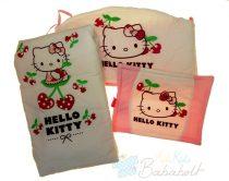 Cseresznyés Hello Kitty 3 részes ágynemű garnitúra