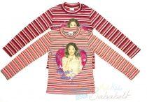 Disney Violetta bolyhos, csíkos pulóver (méret:122-164)