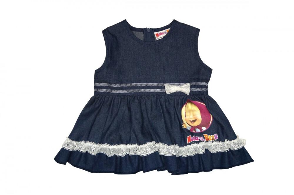 469aa72cb5 Mása és a medve gyerek farmer ruha (méret: 68-116)