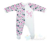 Virágos, pillangós baba/gyerek overall pizsama (Méret: 74-98)