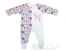 Virágos, pillangós baba/gyerek overálos pizsama (Méret: 74-98)