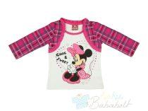 Disney-Minnie-baba/gyerek-bolyhos-hosszu-ujju-polo