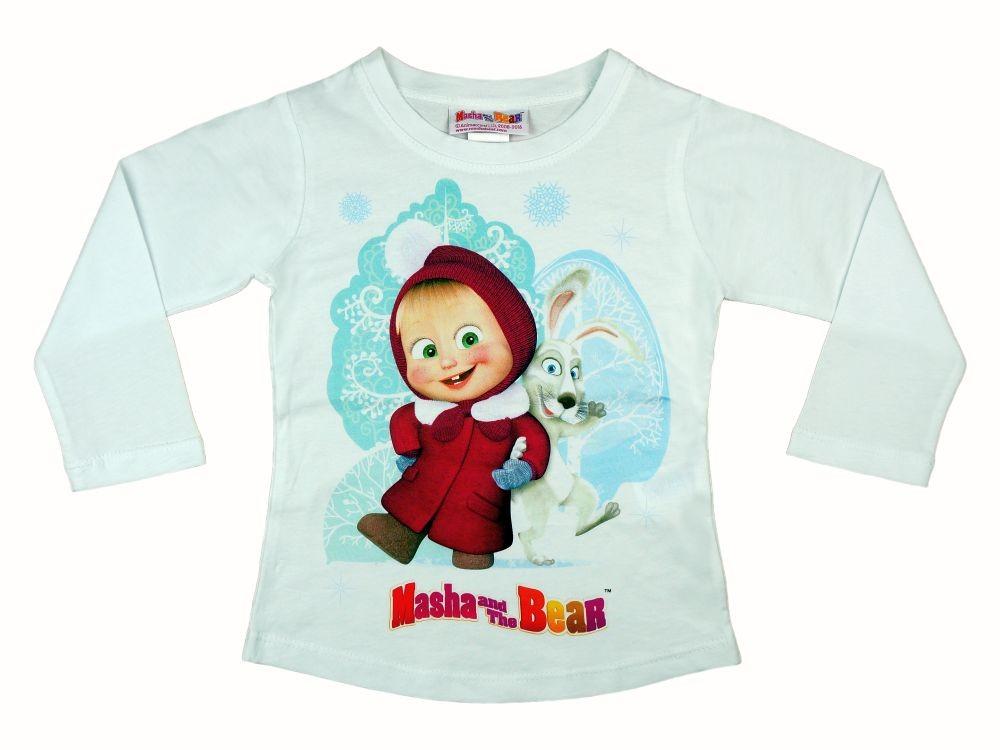 Mása és a medve baba gyerek hosszú ujjú póló (méret  92-122) 2db47adfa3