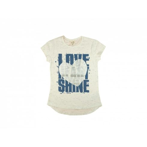 Szíves, glitteres nagylányos póló (méret: 128-164)