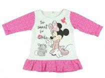 Disney Minnie baba/gyerek hosszú ujjú tunika (méret: 74-104)