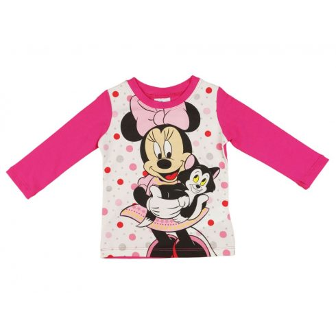 Disney Minnie hosszú ujjú lányka póló (méret: 74-1