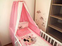 Disney Minnie 4 részes baldachinos ágynemű szett
