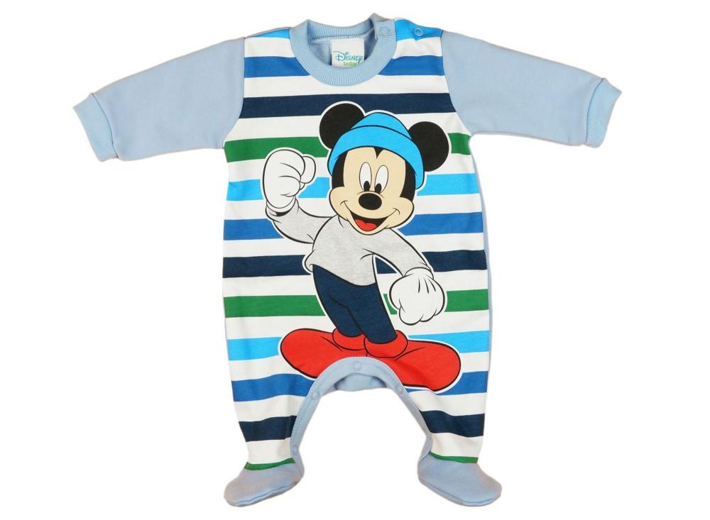 fa971760c2 Disney Mickey belül bolyhos, hosszú ujjú rugdalózó (méret: 56-80)