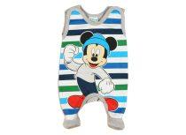 Disney Mickey belül bolyhos ujjatlan rugdalózó (méret: 50-68)