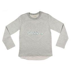 Dombornyomásos glitteres lányka pulóver (méret: 12