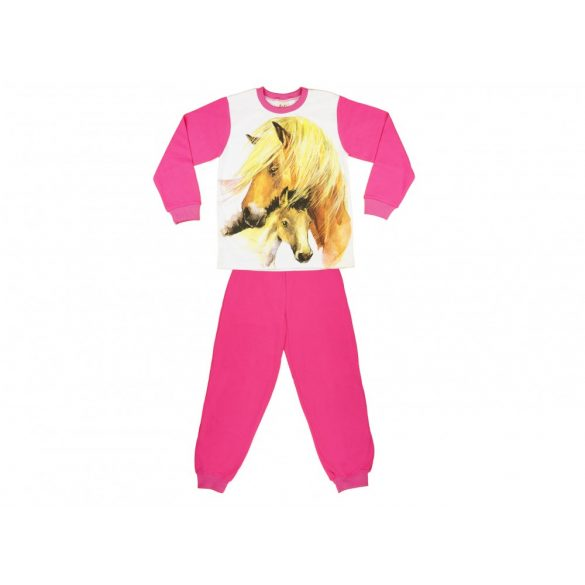 Lovas mintás lányka pizsama (méret  128-164) 5edb3842a4