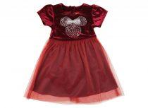 Disney Minnie rövid ujjú, bársony ruha (méret: 92-128)