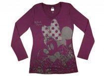 Disney Minnie hosszú ujjú női póló (méret: 158-XXL)