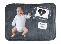 Activity hímzett baba takaró kiegészítő kártyákkal (méret: 90x70 cm)