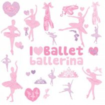 """RoomMates fali dekoráció """"Ballerina"""""""