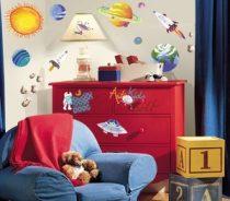"RoomMates fali dekoráció ""Outer Space"""