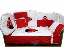Belis 8 részes ágynemű szett - Katicás