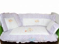 Belis 6 részes ágynemű szett - Lila pöttyös