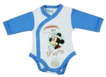 Disney Mickey fiú hosszú ujjú kombidressz elöl patentos Dragon