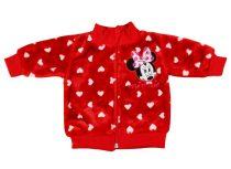 Disney Minnie lányka wellsoft szíves kocsikabát (kardigán)