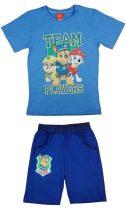 Paw Patrol/Mancs őrjárat fiú 2 részes póló/short szett
