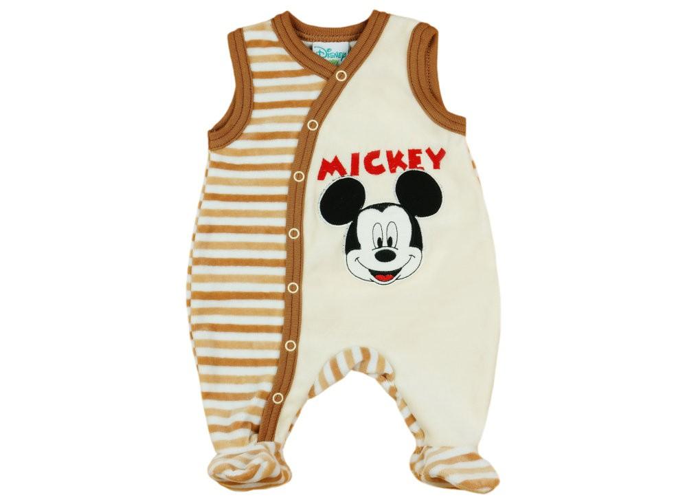 Disney Mickey fiú ujjatlan plüss rugdalózó 99274299c8
