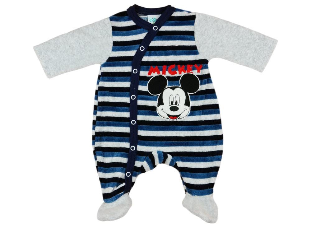 Disney Mickey fiú hosszú ujjú plüss rugdalózó elöl patentos ... 76d6fb1f06