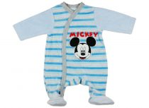 Disney Mickey fiú hosszú ujjú plüss rugdalózó elöl patentos