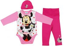 Disney Minnie 3 részes (sapka+nadrág+body) szett pöttyös
