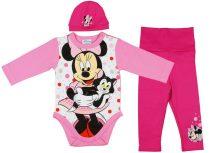 Disney Minnie 3 részes (sapka+nadrág+body) szett p