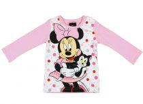 Disney Minnie lányka hosszú ujjú póló pötty