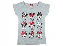 Disney Minnie mintákkal nyomott rövid ujjú lányka póló