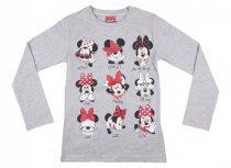 Disney Minnie mintákkal nyomott hosszú ujjú lányka póló