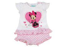 Disney Minnie lányka rövid ujjú napozó szíves