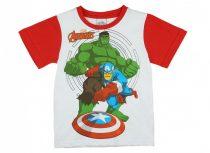 Avengers fiú rövid ujjú póló fehér/piros