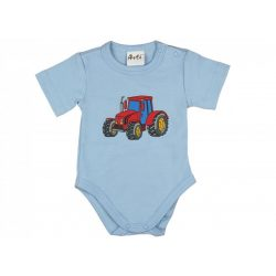 Fiú rövid ujjú kombidressz traktor mintás