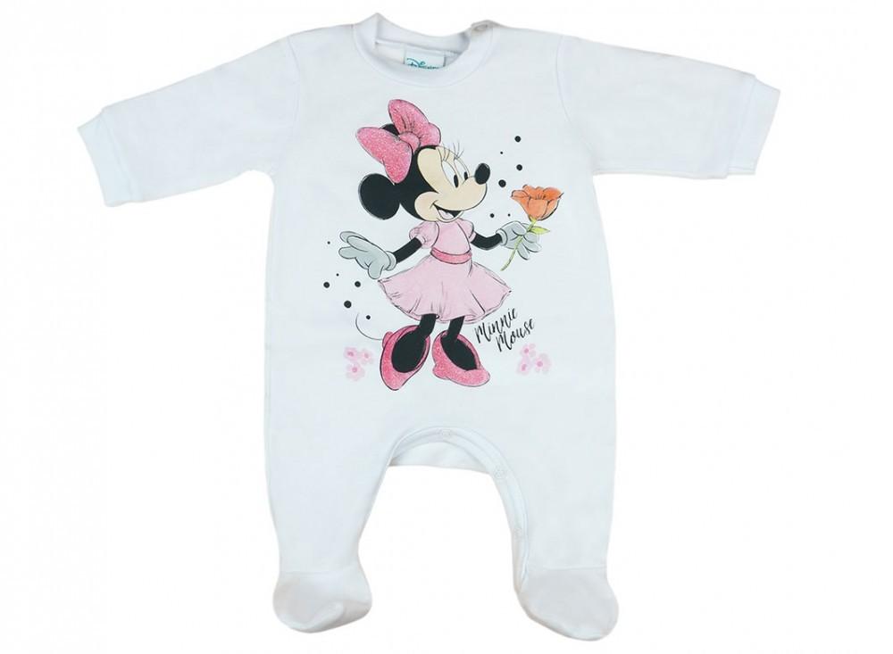 Disney Minnie hosszú ujjú vékony egyszínű rugdalózó a2170b636c